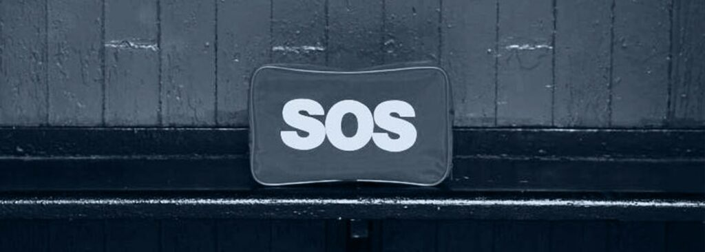 mat with SOS printed on Brand Messaging and Why Your Audience Doesn't Care