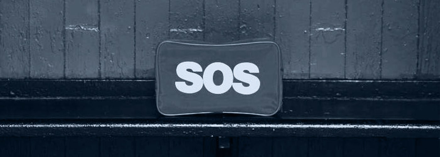 mat with SOS printed on the front - Brand Messaging and Why Your Audience Doesn't Care hero image