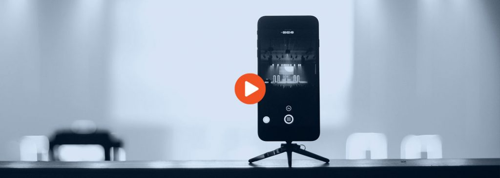 cell phone on a tripod - While You Were Working (Live) Video Marketing hero image