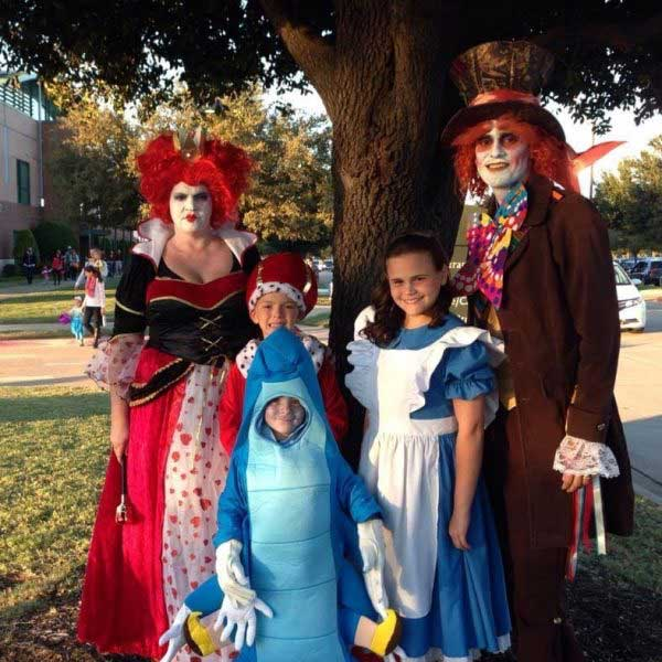 chip rosales and family on halloween