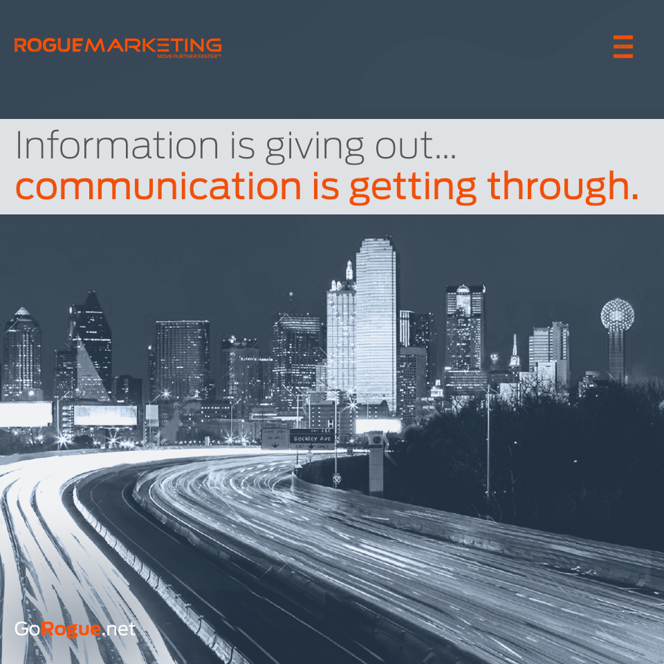 communication rogue marketing quotable