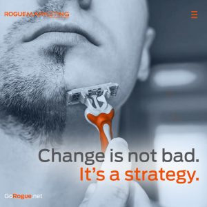change strategy rogue marketing quotable
