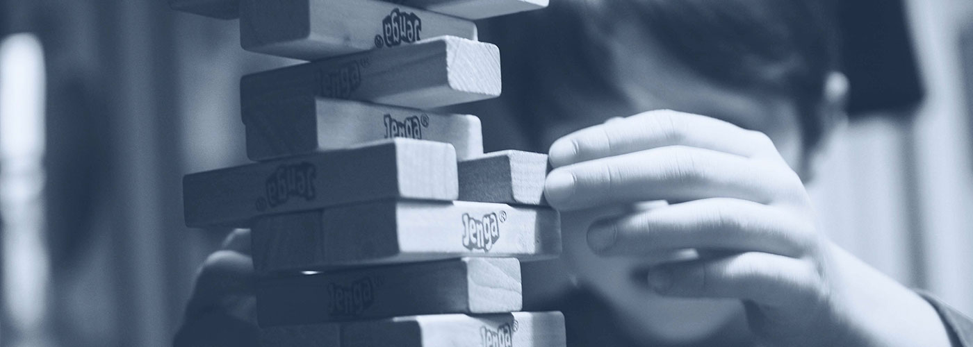 jenga blocks - Creative Deconstruction with Rogue Marketing hero image
